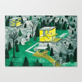 Night Houses Canvas Print