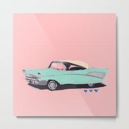 Mr. Miami Car Metal Print