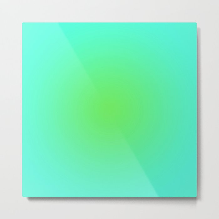 Green Blue Metal Print