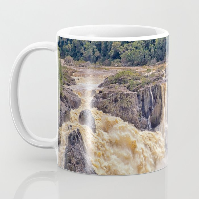 Powerful water going over the falls Coffee Mug