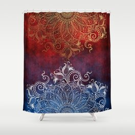 Mandala - Fire & Ice Shower Curtain