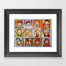The Twelve Kids of Christmas Framed Art Print