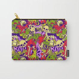 Halloween zombie multcoor pattern Carry-All Pouch
