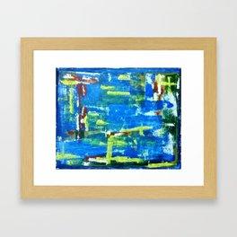 Blue Influence Framed Art Print