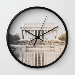 Lincoln Memorial Washington D.C. Wall Clock