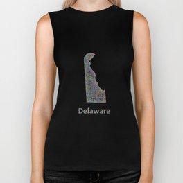 Delaware map Biker Tank