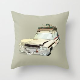 80´s tv and films cars (ghostbusters) Throw Pillow