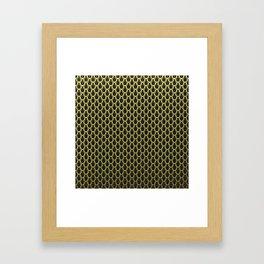 Chain Link Gleaming Golden Metal Pattern Framed Art Print