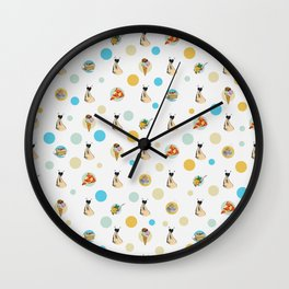 Italian Food Collection Wall Clock