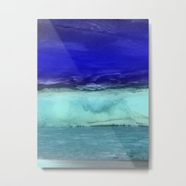 Midnight Waves Seascape Metal Print