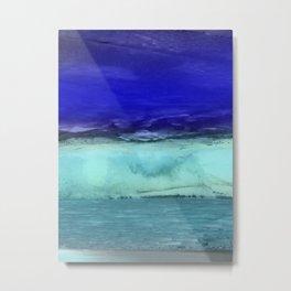 Midnight Waves Seascape Metal Print