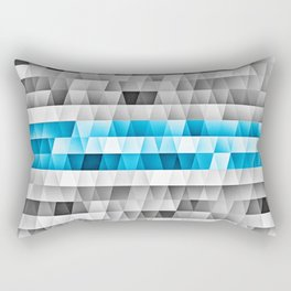 Blue Stripe Geometric Pattern Rectangular Pillow