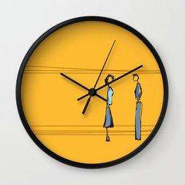 Woman and Man in Utah Wall Clock