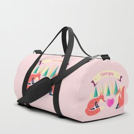 Valentine's Day Foxes in Love Duffle Bag
