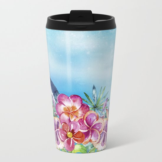 Tropical Jungle Flowers - Aloha Beach - on #Society6 Metal Travel Mug