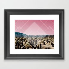 Desert cactus Geometric Framed Art Print