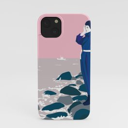 Woman by the sea iPhone Case