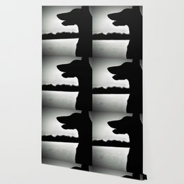 Doberman Silhoutte Wallpaper