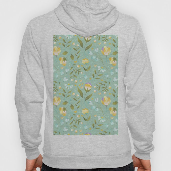 Colourscape Summer Floral Pattern Nebula Hoody
