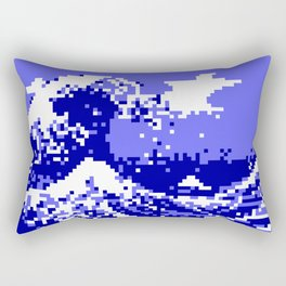 Pixel Tsunami Rectangular Pillow