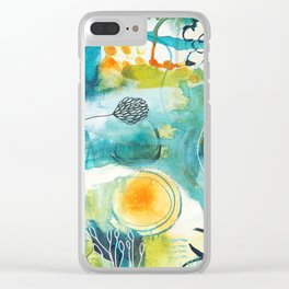 Cracks II - Where the light gets in Clear iPhone Case