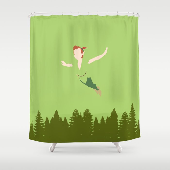 PETER PAN Shower Curtain By Kattieflynn