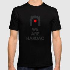 WE ARE HARDAC Mens Fitted Tee MEDIUM Black