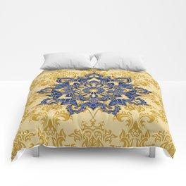 Mandala romantic blue Comforters