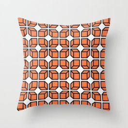 'Retro Geo Design' Throw Pillow