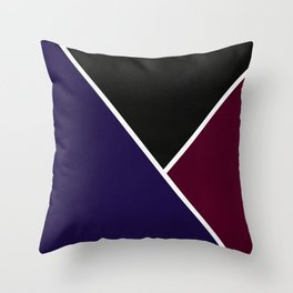 Noir Series - Deep Navy & Red Throw Pillow