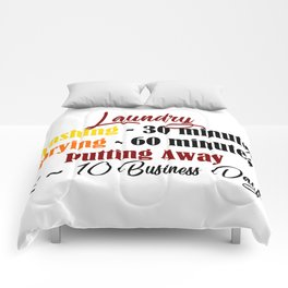 Funny Laundry Lazy Bum Hate Chores Honest Truth Meme Comforters