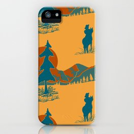 The Day of the Cowboy is gone.... iPhone Case