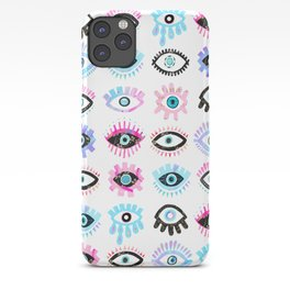 Evil Eyes Pink  iPhone Case