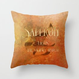 SAFFRON lights the victory march. Shadowhunter Children's Rhyme. Throw Pillow