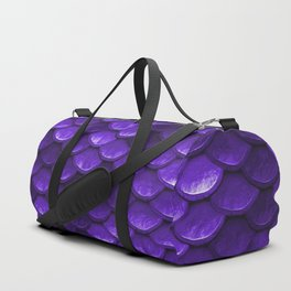 Purple Mermaid Tail Scales Duffle Bag