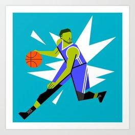 Basketball player Art Print
