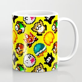 Super Mario World | Enemies Pattern | yellow sun Coffee Mug