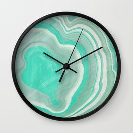 Hand marbeled paper 2 Wall Clock