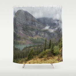 Grinnell Lake from the Trail No. 1 - Glacier NP Shower Curtain