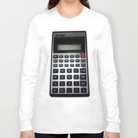 math Long Sleeve T-shirts featuring Fuck Math by Wis Marvin