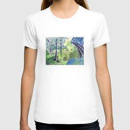 VUE DANS LES JARDINS DE LA PETIT AFRIQUE À MONACO T-shirt