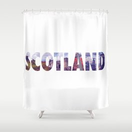 Views from Scotland Shower Curtain