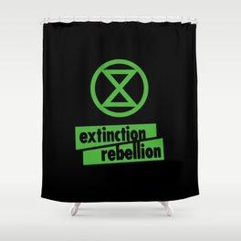 Extinction Rebellion International Movement Shower Curtain