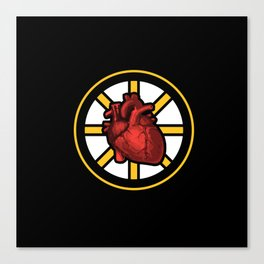 Bruins Have Heart #SpokedHeart Canvas Print