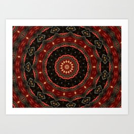 Rich European Burgundy Round Pattern A448a Art Print