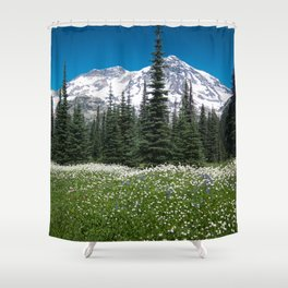 Mt. Rainier Wildflowers 2017 Shower Curtain