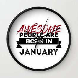 Awesome Born In January Babies Birthday Wall Clock