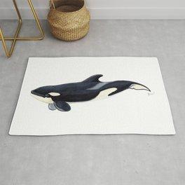 Baby orca Rug