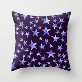 Colorful watercolor star cosmic Throw Pillow