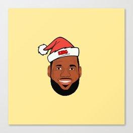 Lebron Christmas Canvas Print